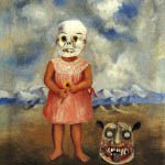 Girl with Death Mask, by Frida Kahlo, 1938