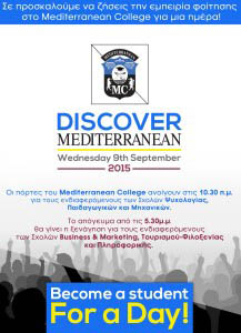 Mediterranean College-Open Day September9th